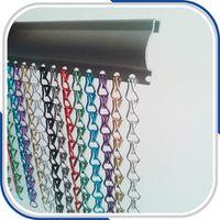Hook Link Aluminum Fly Screen Door Curtains