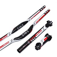 PuraRaza Carbon Fiber Leather EC90 Set 3 to flat riser Handlebar stem Mountain Bike