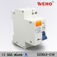 DPNL 16A 230V~ 50HZ/60HZ 1P+N Residual current Circuit breaker with over current and Leakage protection RCBO