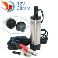 Bottom Removable 38mm DC 12V Water Oil Diesel Fuel Transfer Pump Submersible Pumps Car Camping New Stainless Steel