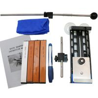 Hot Sale Pro Knife Sharpener Updated Professional Kitchen Knife Sharpener System +4pcs Whetstones