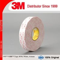3M 4930 VHB Double Sided Tape White, 1 in x 36 yd , 0.6mm (Pack of 1)