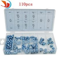 110pcs/set hydraulic grease fitting automobile parts Metric Grease Fitting Assortment Professional Industry Tool