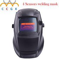 New Big screen 4 Sensors solar auto darkening welding helmet TIG welding caps MIG welding hood MAG welding hats Grinding mask