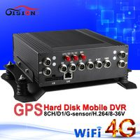 GISION 4G WIFI network video recorder GPS car mdvr real time surveillance monitoring
