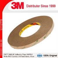 3M 300LSE Adhesive tape 9495LE for cell phone repairs, Clear, 0.17mm thick, 3/4''X55M/pc,  Pack of 1