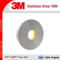 3M 4941 VHB Double Sided Tape with 1.1mm thick, Gray,12.5mmX33M (Pack of 1)