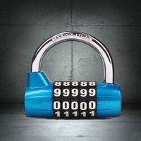 Universal Lock 5 Password Padlock Locksmith Tools Free Shipping