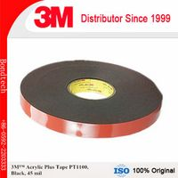 3M Acrylic Plus Tape PT1100 , Black, 45 mil, 10mm x 36 yd