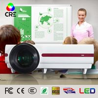 CRE Brightest3500lumens Led 3D Digital video Native Full HD support home projector