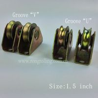 "1.5 inch sliding gate  wheel groove ""V"" ""U"" with bearing and outer support"