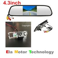 thehotcakes 4.3inch Monitor Mirror License Plate Lamp OEM Car Rear View Parking