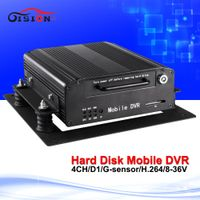 GISION 2016 Hdd Dvd Recorder 4Channel Cctv Car Dvr Support Night Sight Playback