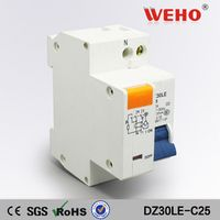 DPNL 25A 230V~ 50HZ/60HZ 1P+N Residual current Circuit breaker with over current and Leakage protection RCBO