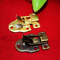 10Pcs 56*40MM iron buckle hasp hasp wooden wine box with lock Buckle Antique Padlock Hardware