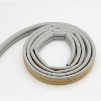 1 meter new generation of silicon rubber sealing strips crash soundproof door for windows foam seal strip