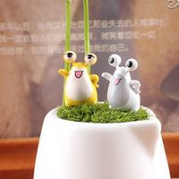 2016 mini cute DIY resin frog Craft Bonsai Garden Decoration Accessory Succulent Plants free shipping