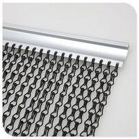 Glossy decorative aluminum chain fly screen door curtain