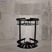 Dofaso all copper Bath Shower Storage Holder Retro Black Bronze Basket Shelf Wall Mounted Kitchen Corner Basket Rack
