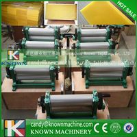 Manual beeswax foundation machine wax mill machine cell size 4.9mm, roller size 86*310mm