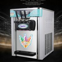 The new automatic three-color mini ice cream machine soft ice cream machine Variety shape commercial ice cream machine