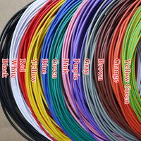 26AWG UL1007 OD 1.3mm Environmental Electronic Wire Internal Wiring VW-1 10 Colors Selectable