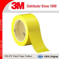 3M 471 Vinyl Tape, Yellow, 12.7mmX33M, 4rolls/ pack