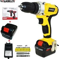 WARSLEY 21V battery Cordless power tools electric Drill Screwdriver electric drilling