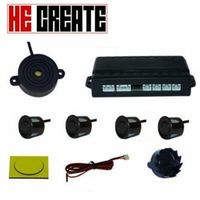 HE CREATE 4 Car Buzzer Parking Sensor Kit Reverse Backup Radar Sound Alert