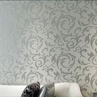Luxury European Modern Leaf Wallpaper Wholesale Non-woven Papel Parede Mural Wallpapers Roll Silver Golden 3D Wall Paper QZ062