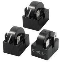 UXCELL Plastic Housing 4.7 Ohm 3 Pins Refrigerator Ptc Starter Relay Black 3Pcs