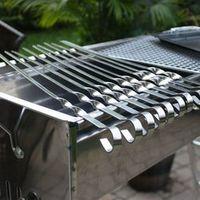 V587 Skewers Barbecue Cooking Grilling Kabob Kebab 6PCS/Set