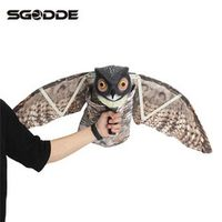 SGODDE Flying Owl Decoy Garden Mice Pest Scarer Scarecrow Predator Bird Deterrent