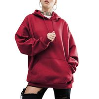 SANWOOD 4 Color Casual Solid Color Loose Hoodie Women Bat