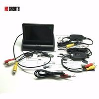 "HE CREATE Waterproof Car Parking System Kit Wireless 4.3""TFT LCD Monitor"
