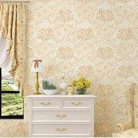 3D Mural Wallpapers European Style 3D Stereoscopic Wall Paper for Walls Rustic Floral Wallpaper Bedroom TV Back,Decal Wallpaper
