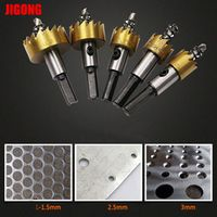 JIGONG High Quality 5PCS HSS Drill Bit Hole Saw Set Stainless Steel Metal Alloy Drill Bits Holw Saw Cutter For Home Tools16-30mm