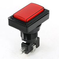 Uxcell Panel Mount Red Indicator Spdt Momentary Game Rectangle Push Button Switch .