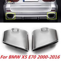 Auzan Pair Chrome Exhaust Dual Tail Pipe Muffler Tip Stainless Steel For BMW X5 E70