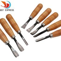 8Pcs/set QST EXPRESS Dry hand Wood Carving Tools Chip Detail Chisel set Knives tool