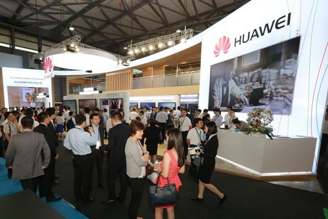 Huawei booth at Mobile World Congress Shanghai 2016