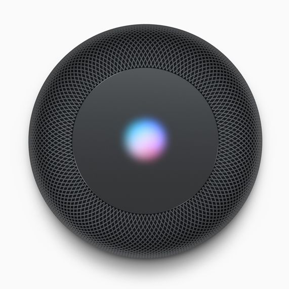 Top down view of HomePod.