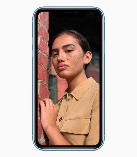 iPhone XR showing portrait image.