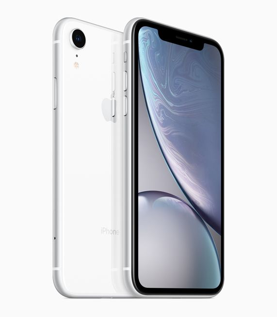 iPhone XR with white finish.
