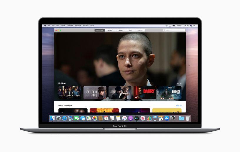 Apple TV app on MacBook Air.