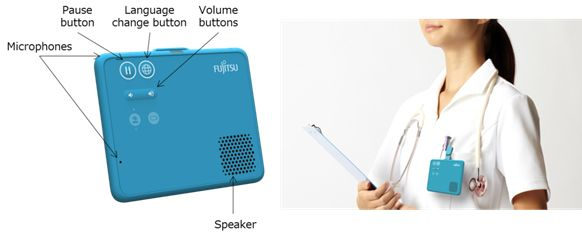 Figure 1: The newly developed wearable, hands-free speech translation device