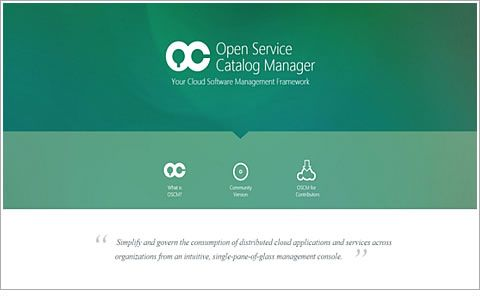 Website for Open Service Catalog Manager
