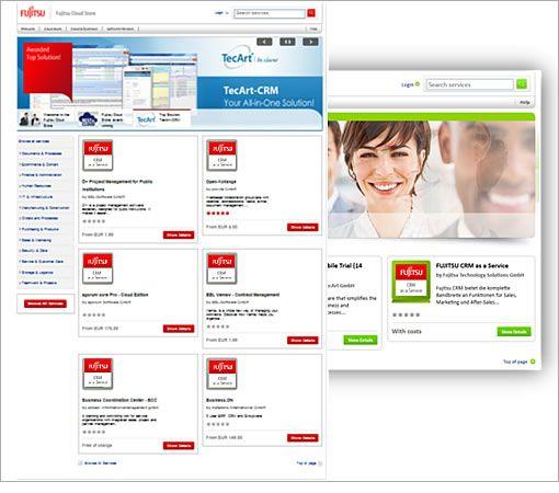 Screenshots of the marketplace