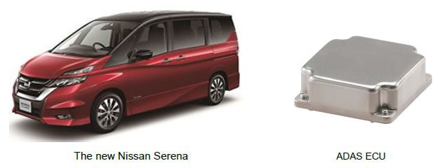 [image](From left: The new Nissan Serena, ADAS ECU)