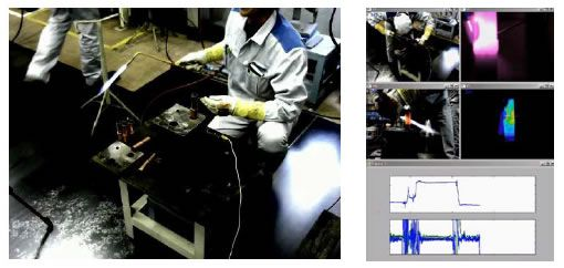 [image]Example of brazing work and brazing process sensing, utilizing advanced image analysis